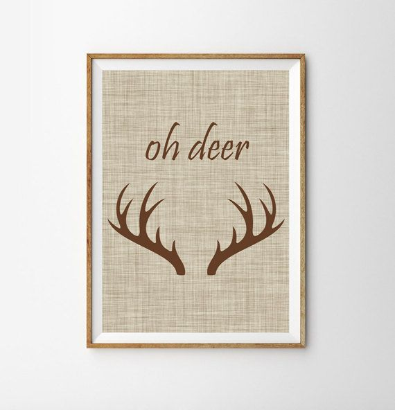 Oh Deer Print  This lovely Print makes a beautiful addition your familys home. * Designed by me * Its printed professionally on a high quality paper