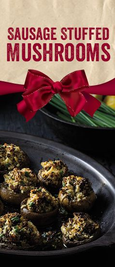 Sausage Stuffed Mushrooms make a delicious appetizer for entertaining at Holiday parties.