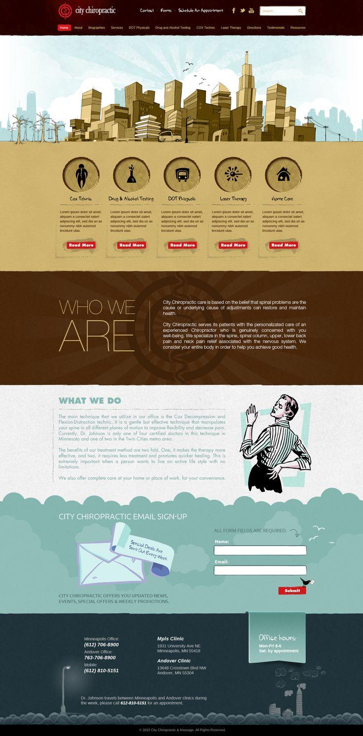Help City Chiropractic with a new website design Website design #43 by zigotone