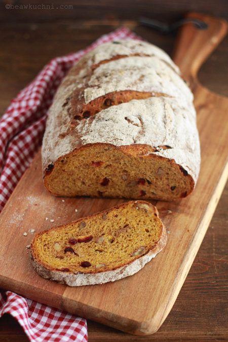 Chleb pszenno-orkiszowy z dynią (na zaczynie drożdżowym) | Bea w Kuchni