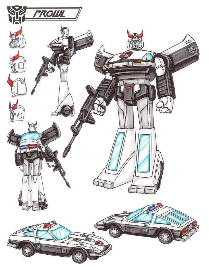 Transformers Generation 1 Cartoon Characters : Best images about prowl bluestreak silverstreak jazz