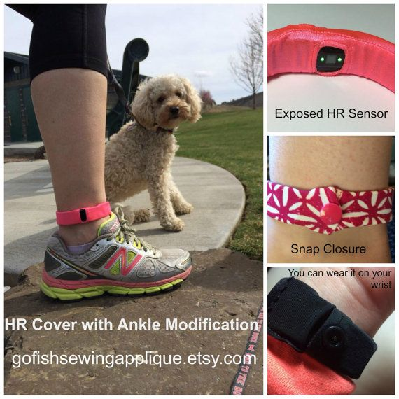 Fitbit Charge HR cover for ankle Charge HR by GoFishSewingApplique