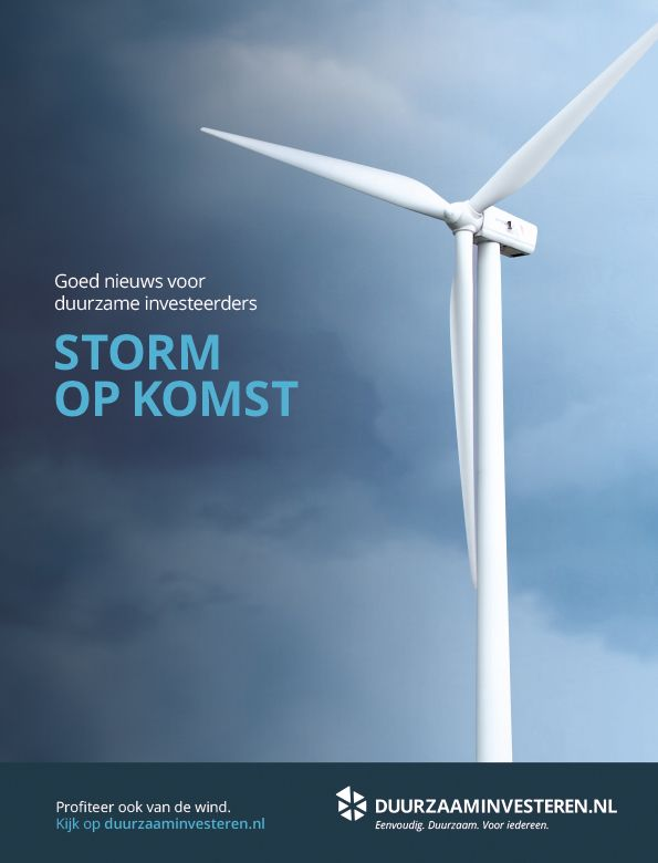 Advertentie voor Duurzaam Investeren in Financieel Dagblad. Ontwerp: Gedachtegoed Concept en Design