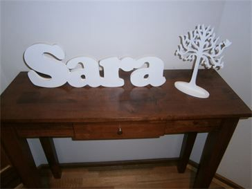 Freestanding Name and a Jewellery Tree : Name in Cooper Font