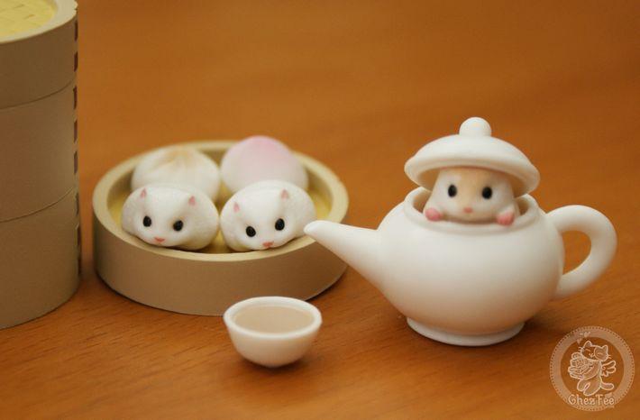 Gashapons kawaii Japonais~~  Tumcha hamster (Hamster à Hongkong) XD  Des gashapons kawaii authentiques vendus dans la boutique kawaii www.chezfee.com