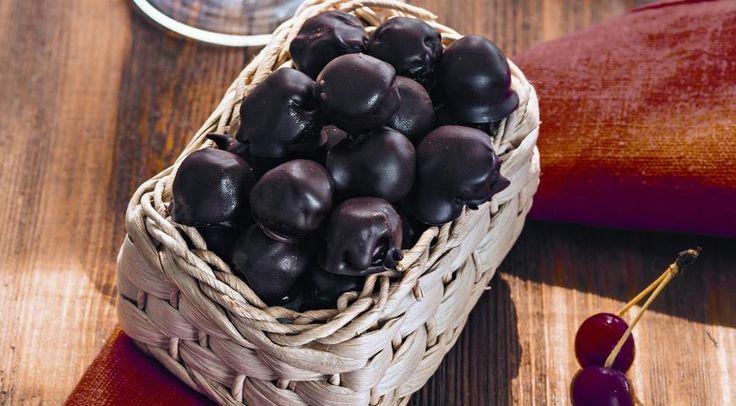 Конфеты Шоколадная вишня вконьяке