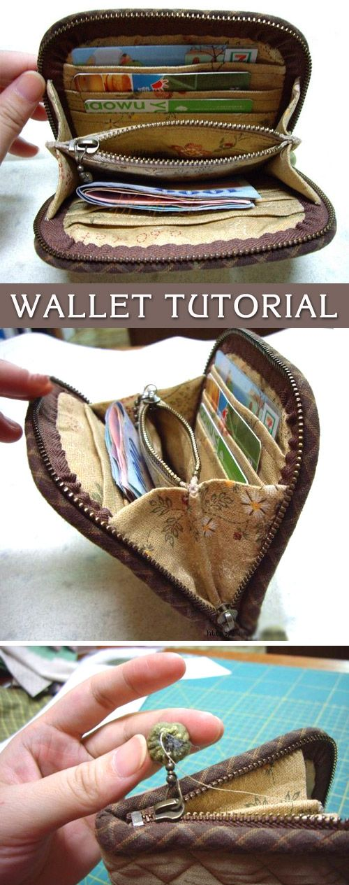 Accordion Purse / Wallet Tutorial. DIY tutorial in pictures. Quilting and…