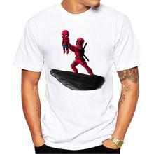 Regeneración de Jackass 2016 Más Nuevo Deadpool Hombres camiseta de La Manera tapas de Diseño de La Darth Rey Impreso Camisetas Inconformista Punk tee(China (Mainland))