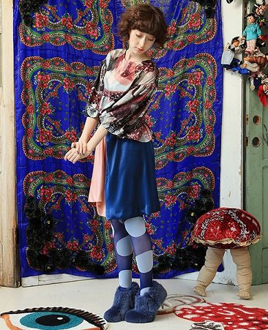 ahcahcum-muchacha ❤ AHCAHCUM  オパールからだキノコプリント ペプラムブラウス ❤ http://www.store.palm-jpn.com/fs/palm/mirach-AHCAHCUM_preorder/13600006425-mirach ❤ AHCAHCUM  サテンアシンメタック スカート ❤ http://www.store.palm-jpn.com/fs/palm/mirach-AHCAHCUM_preorder/13600006495-mirach