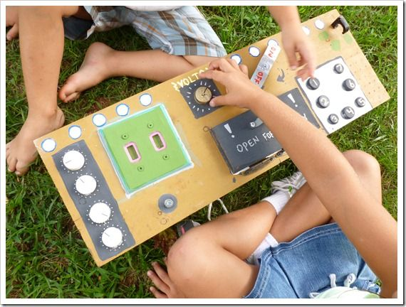 """Encourage imagination by making a """"control panel"""" with your kids"""