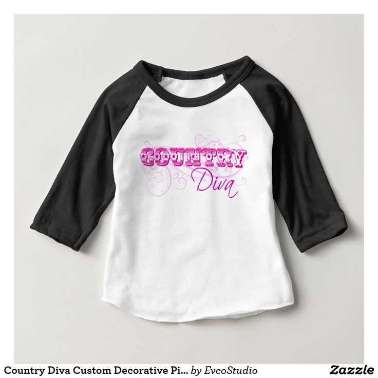 Country Diva Custom Decorative Pink Typography