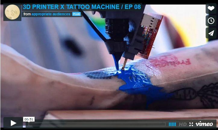 Esta impresionante máquina tatuadora demuestra por qué el futuro es ahora