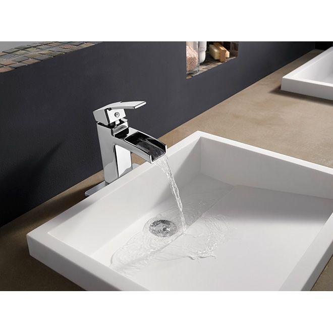 Robinet de lavabo «Kamato», chrome poli