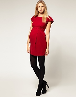 ASOS Maternity Tulip Dress with Fluted Sleeve $50.13