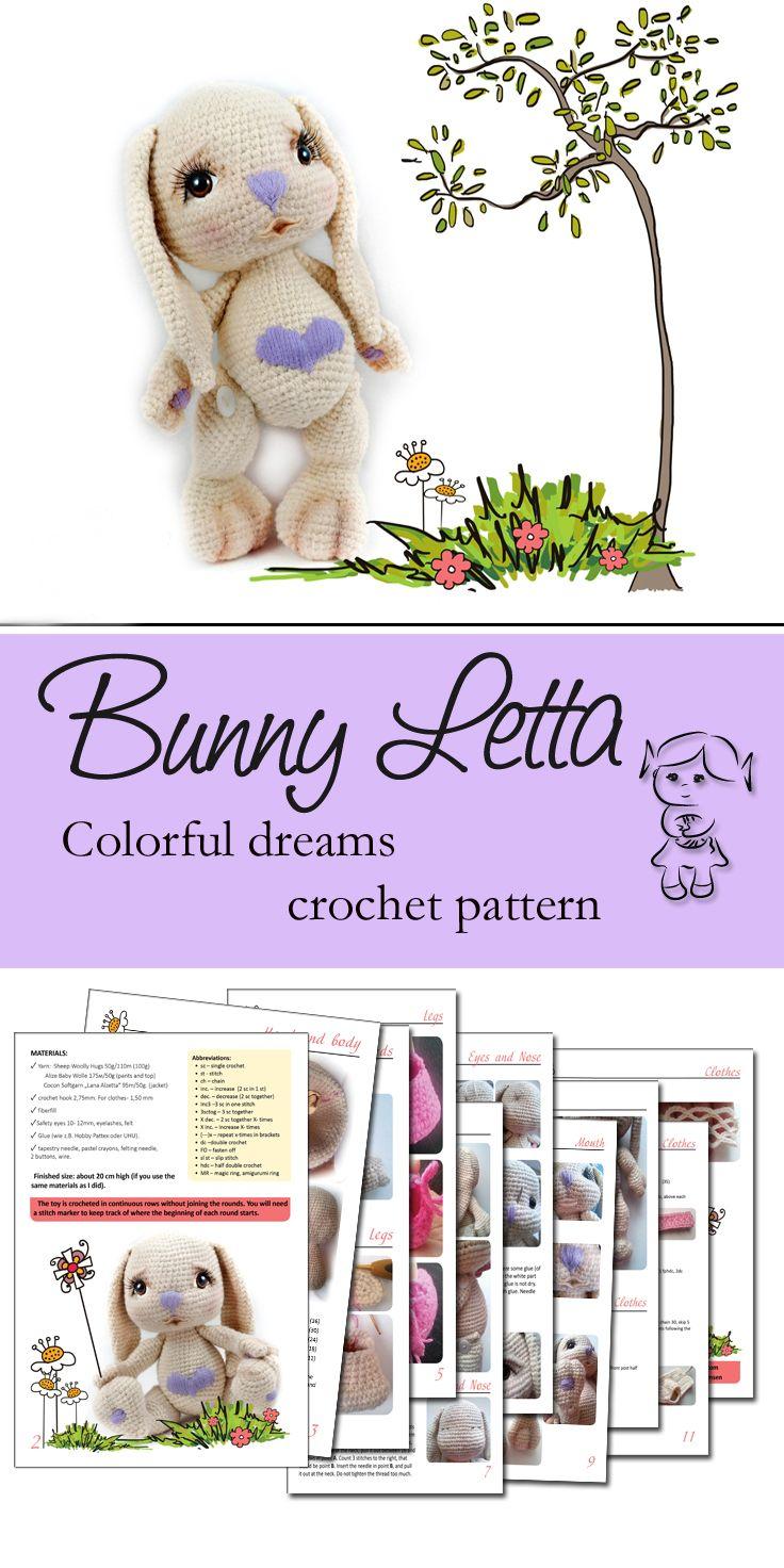 #bunny #letta #crochet #pattern #amigurumi #colorfuldreams