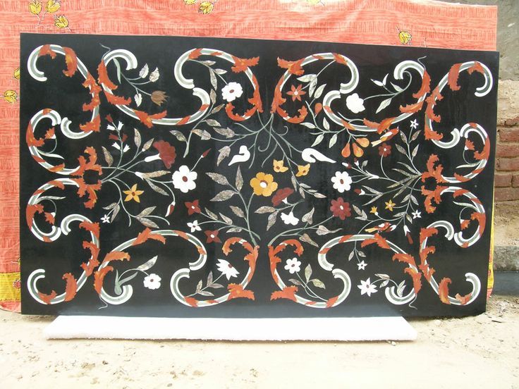 Its Very Best Of Deign Of Marble Dinning Table Top Size 180cm X 120cm Inlaid  Many