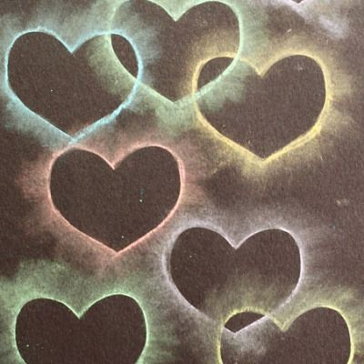 Crafts for Kids: Chalk Stencil Heart Collage - Buggy and Buddy