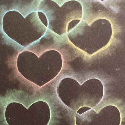 Crafts for Kids: Chalk Stencil Heart Collage