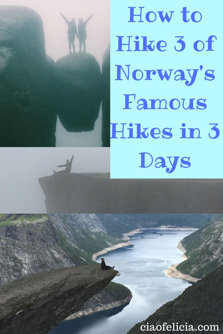 How to do the best hikes in Norway in only 3 days!  The famous hikes are trolltunga kjeragbolten and preikestolen!  Let's go hiking!