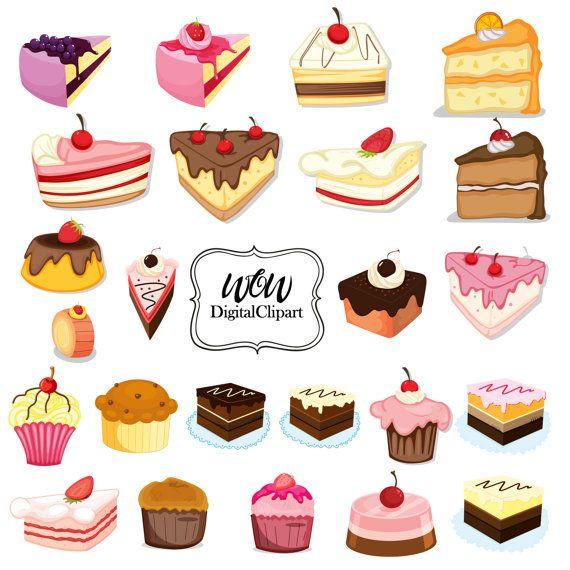 Cupcakes clipart, digitale cupcake, clip art cupcake, digitale afbeelding, cupcake, verjaardagstaarten, bakkerij snoep, chocolade 0004 frosting