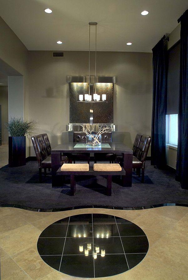 Gray Dinign Room Table