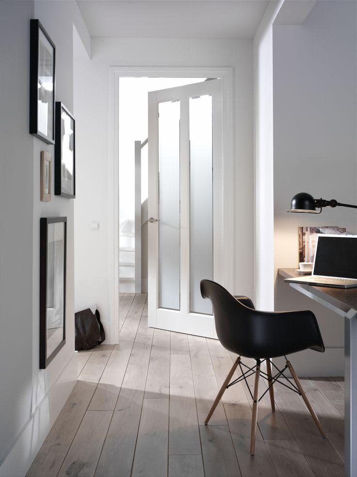 Moderne Binnendeur met mat glas