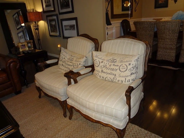 Cozy chairs $1200 each at a furniture store got both for