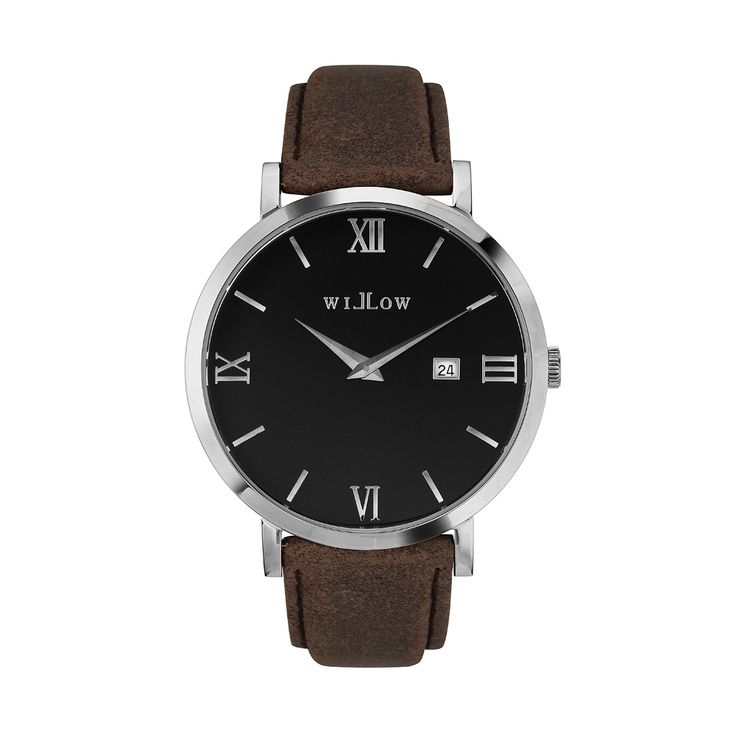 Treviso Silver Watch & Interchangeable Brown Leather Strap.