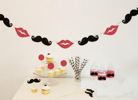 Mustache and Lips Party Decor