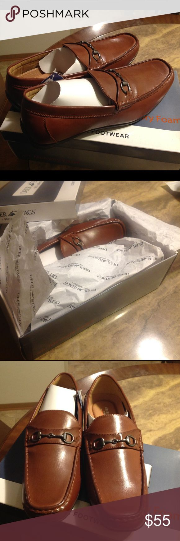 Deer Stags Manual Bit Loafers Brand new with tags, box and never worn. Vegan leather with removable, shock-absorbing memory-foam footbed molds to your foot and helps relieve pressure points. Deer Stags Shoes Loafers & Slip-Ons