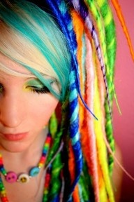 rainbow dreads