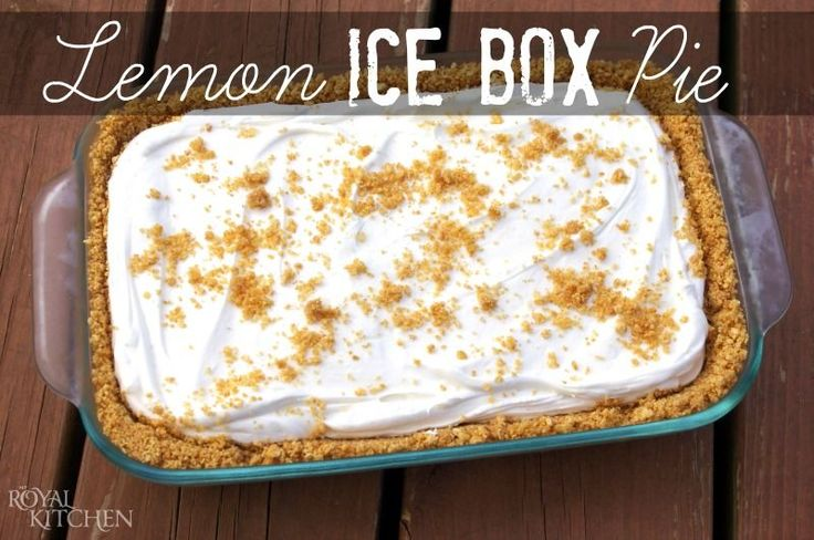 Lemon Ice Box Pie ~ This is the perfect no-bake summer dessert!