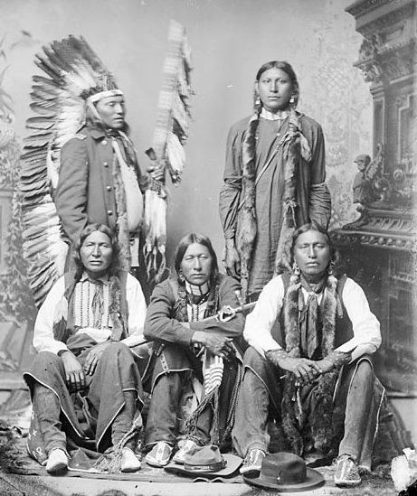 Five American Indians of the Arapaho Nation.