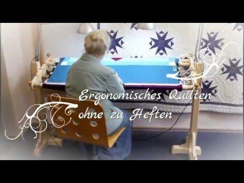 Jems Quiltrahmen Aufstellen 3-und 4-Stangensystem - YouTube