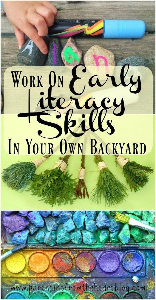 Backyard learning is easy, cost effective and SO much fun!!! In fact your children will benefit more from backyard learning than sitting at a desk with a paper and pencil. Promote early literacy, fine motor skills, hand-eye coordination and more using the