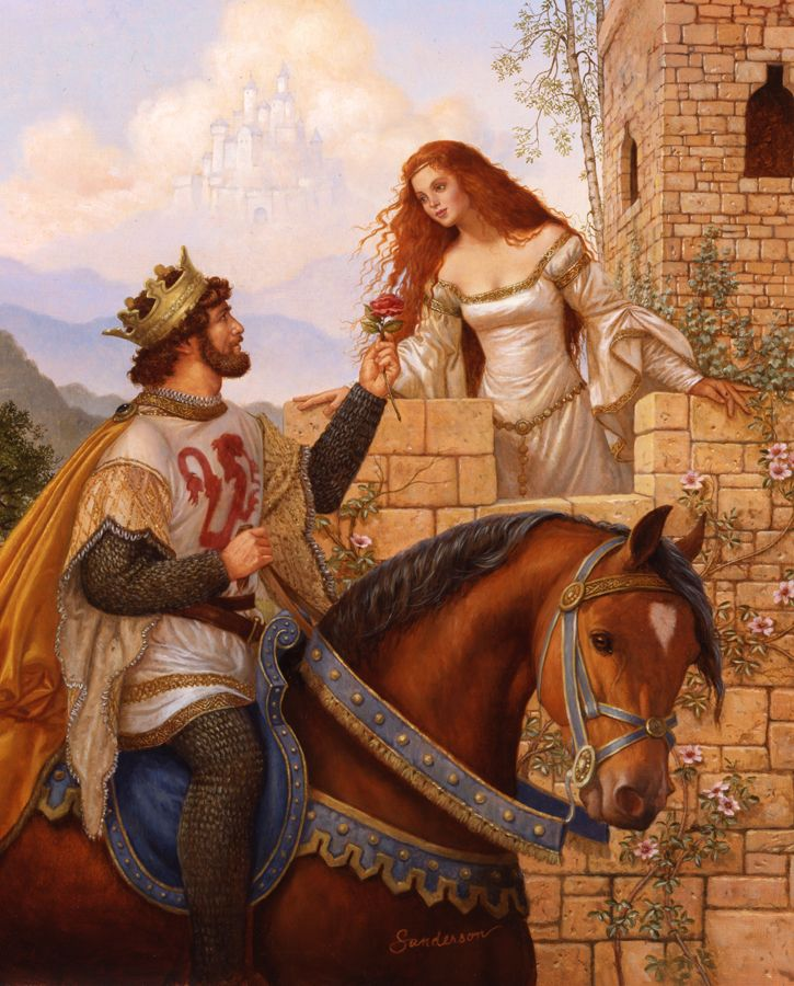 Ruth Sanderson, Arthur and Guinevere  (Research for The Second Rose www.EKaiserWrites.webs.com)