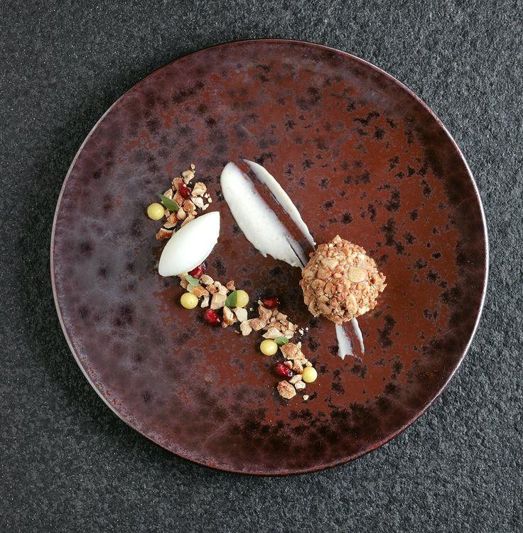 Milk chocolate and cashew nut parfait   FOUR Magazine