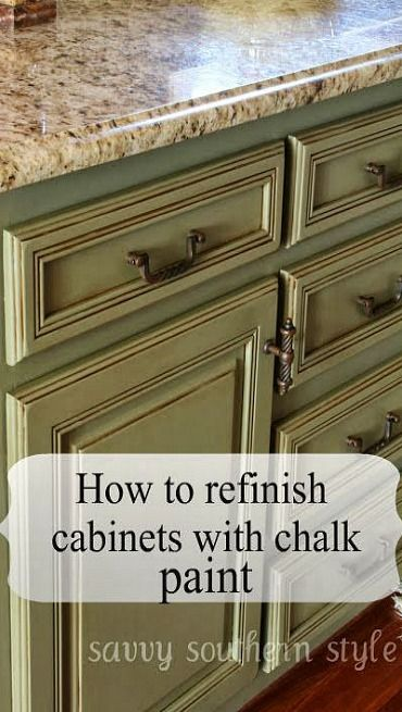How to Refinish Cabinets with Chalk Paint