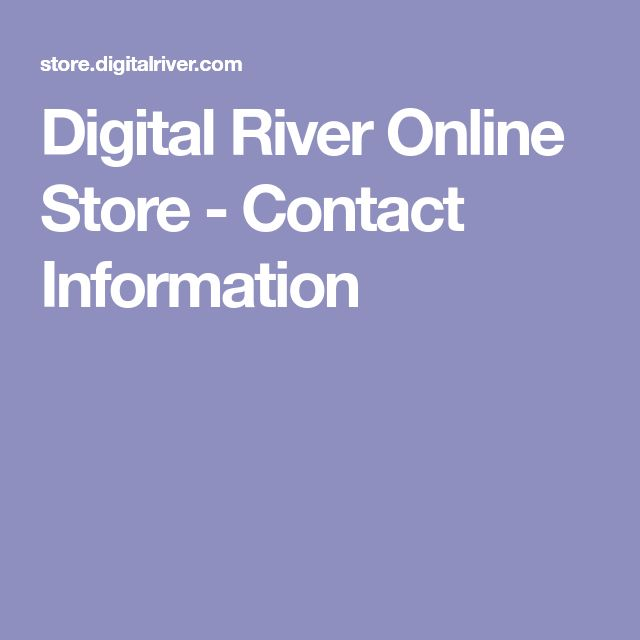 Digital River Online Store - Contact Information
