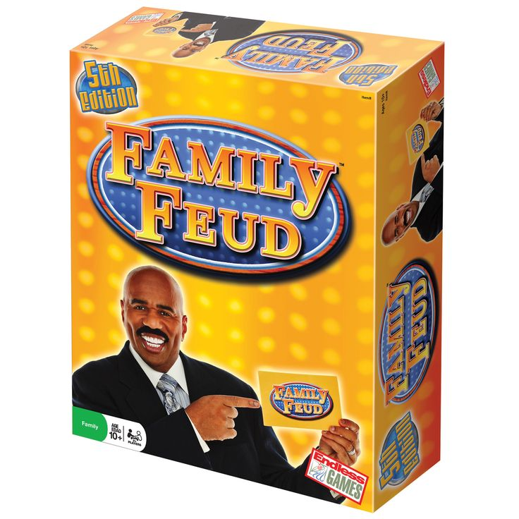 One of the most popular game shows of all time, The Family Feud is back and better than ever in the new 5th edition. Chock full of survey questions from the TV game show, challenge the knowledge of your family and friends with this classic board game.