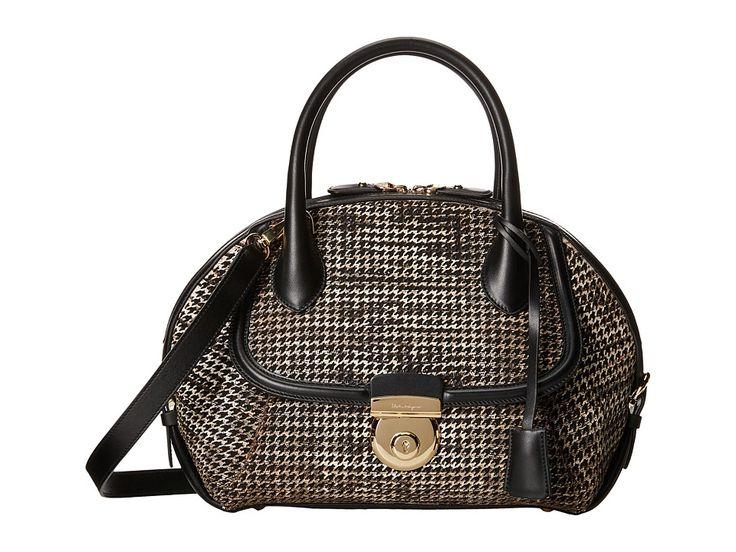 Image of Salvatore Ferragamo - 21F311 Fiamma (Roccia) Satchel Handbags