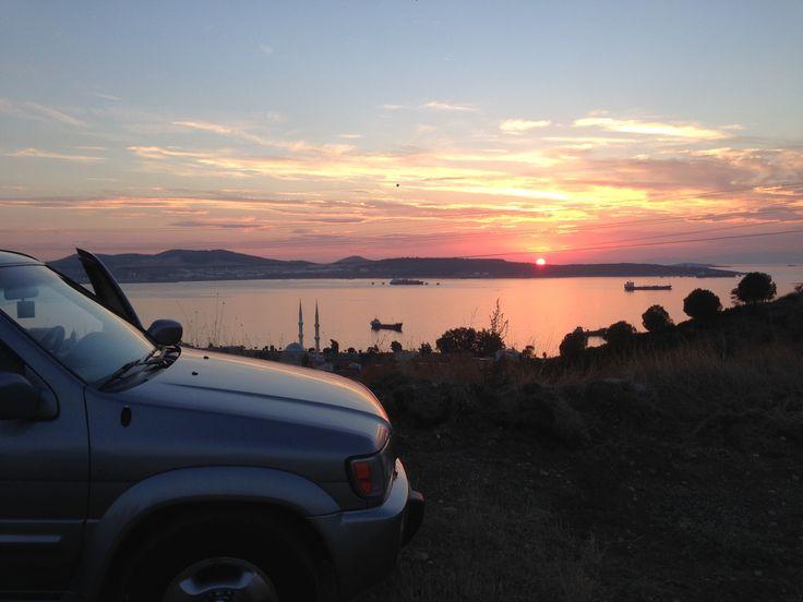 a beautyful sunset viev #izmir