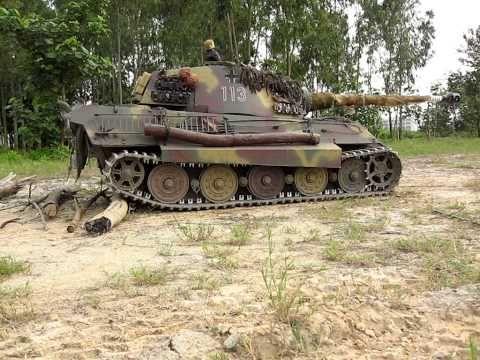 1/4 Scale RC Königstiger King Tiger Tank Field Test - YouTube