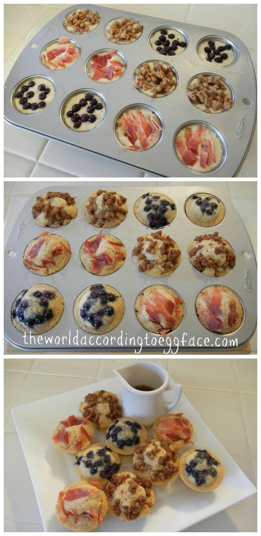 "Pancake Bites ""Muffins"" - Kid Friendly Breakfast On the Go"