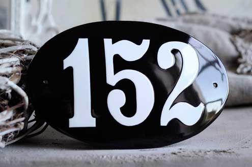 "Havreholm Porcelain Enamel Sign 7½"" x 4¾"" (19 x 12 cm)"
