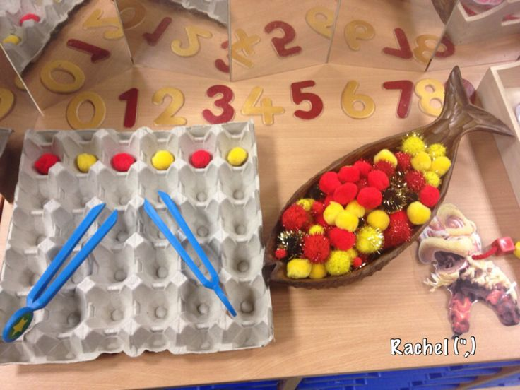 A great way to teach motricity skills combined with counting! Give the children a number and let them fill the correct amount of spaces!