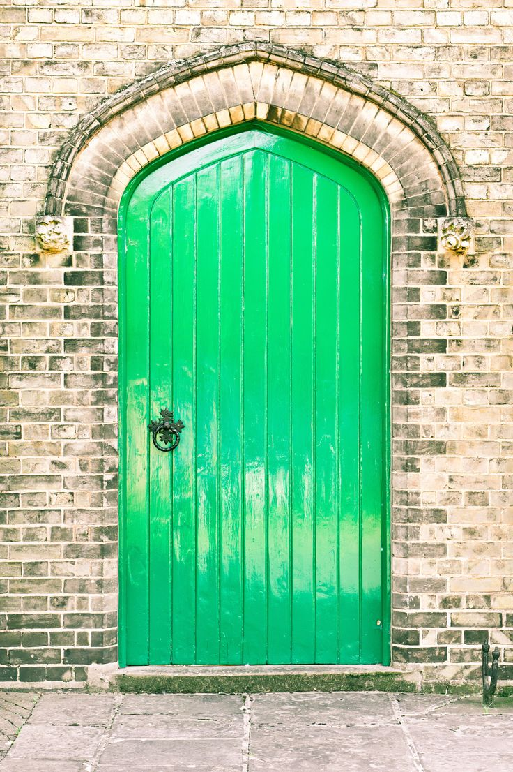 Church Wood Green door in England. - A green arched door in a brick wall. - by Tom Gowanlock on 500px ..rh