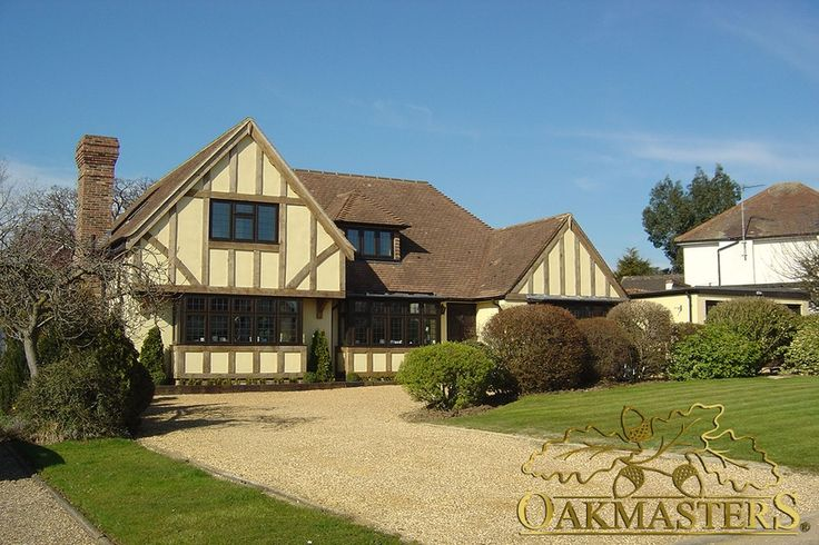 Increase the value of your property by using oak cladding for Tudor style effect - Oakmasters