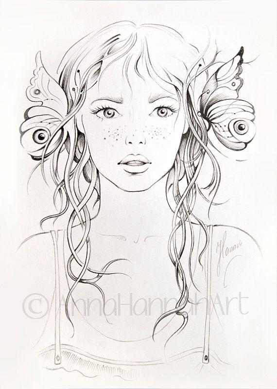 """Gardener Girl"" pencil drawing"