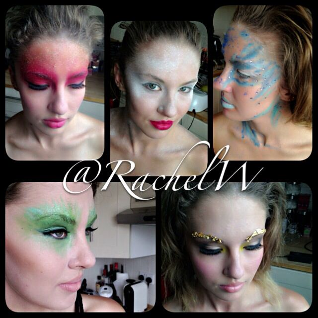 Bts of 5 elements inspired make up for a photo shoot in London!!